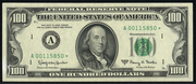 1993 $100 Federal Reserve Note Green Seal