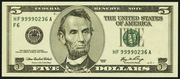 2006 $5 Federal Reserve Note Green Seal