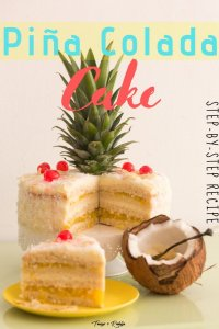 Piña Colada Cake - step-by-step recipe -pin3