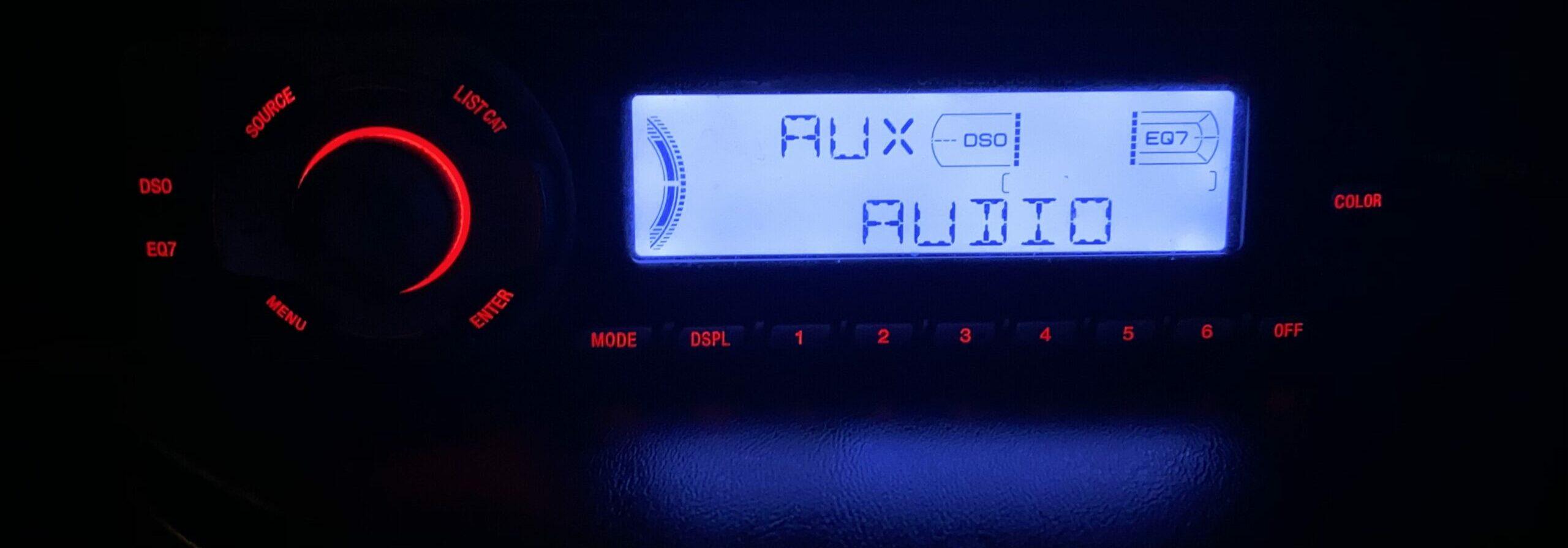 Night shot of the Sony CDX FW570.