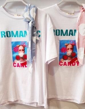 camiseta bochic romanic candy