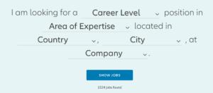 Natural Language Filter from Allianz Careers: https://careers.allianz.com/en_EN.html