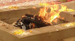 Kalagni Rudra's OM (trishula with staff)