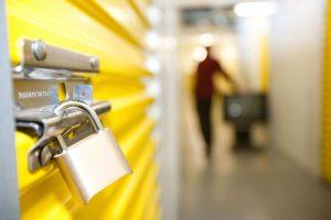 padlock on self storage unit