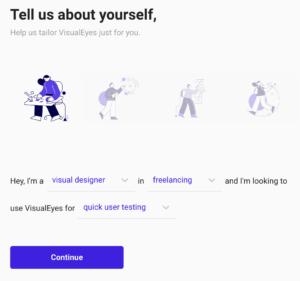 User Onboarding on https://www.visualeyes.design/