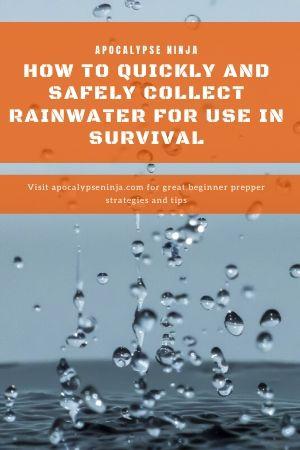 collecting rainwater