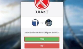 Use Exodus Redux Kodi addon with Trakt