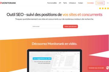 Monitorank home page