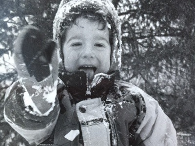 Cooper Campbell Playing In the Snow cropped