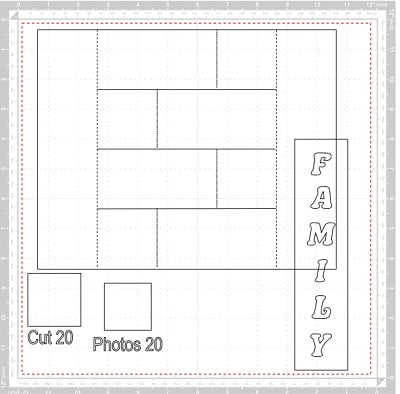 Canvas Workspace pop-up photo frame template layout on mat