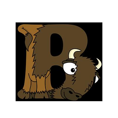 Cartoon Bison | Alphabetimals.com