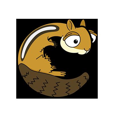 Cartoon Chipmunk | Alphabetimals.com