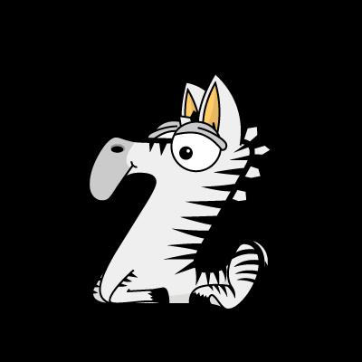 Cartoon Baby Zebra
