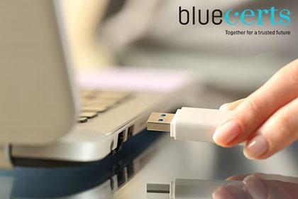 Blue Digital Signature 1