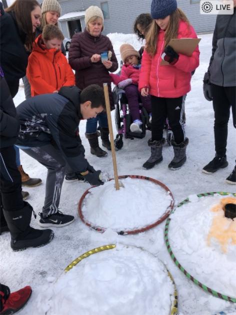 Snow Volcanoes Bay Ridge 5th 6th Graders Pouring Vinegar WinterKids