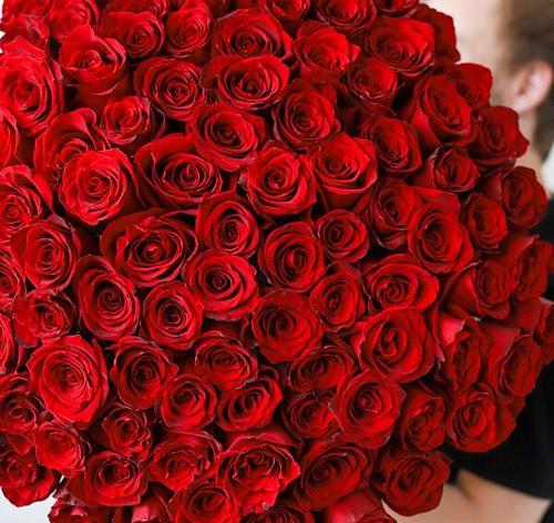 Монобукет из 101 Розы Эквадор №1143 - Фото 4