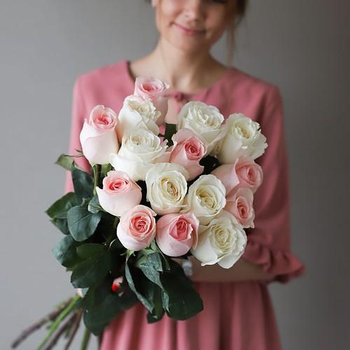 Монобукет из 15 роз (Эквадор) №1031 - Фото 7