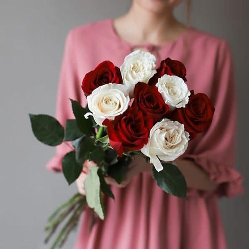 Монобукет из 9 роз (Эквадор) №1033 - Фото 5