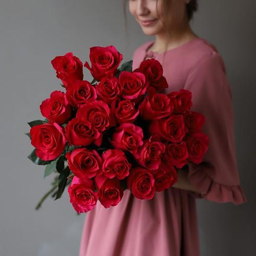 Монобукет из 25 роз (Эквадор) №1047 - Фото 31