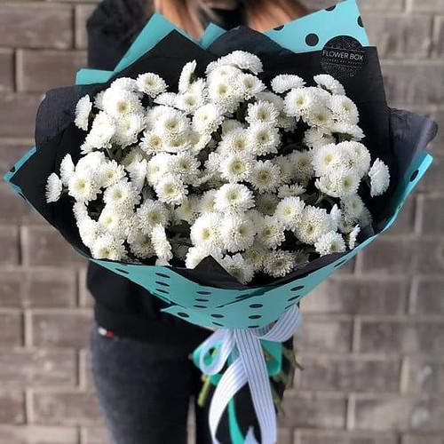Букет из хризантемы Кокос №584 - Фото 5