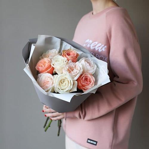 Монобукет из роз №894 - Фото 5