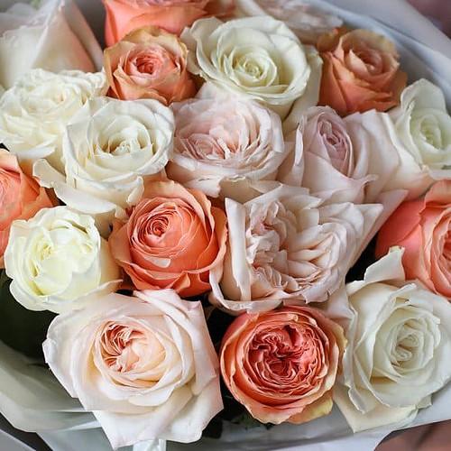 Монобукет из роз №895 - Фото 4