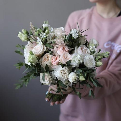 Нежный букет невесты в стиле рустик №963 - Фото 3