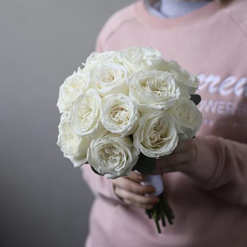 Свадебный букет из белых роз №959 - Фото 5