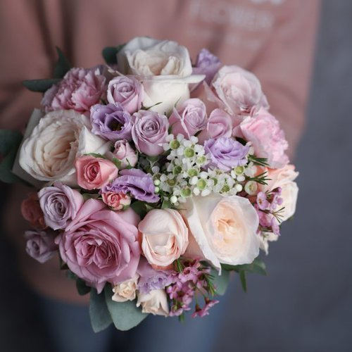 Букет невесты в лавандовом цвете  №980 - Фото 2