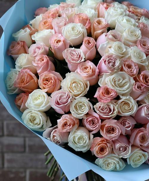 Монобукет из 101 Розы Эквадор №1140 - Фото 30
