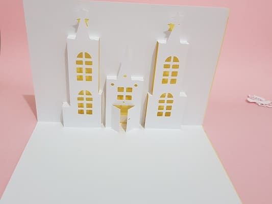 Castle pop up card SVG file for your cutting machine Scan N Cut or Cricut