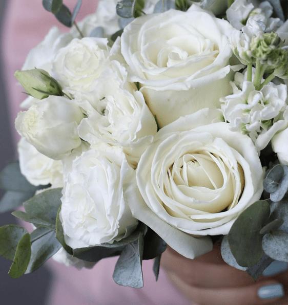 Белый букет невесты №987 - Фото 2
