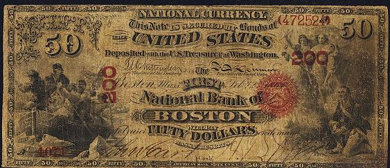 1863 Fifty Dollar Original Series National Bank Note