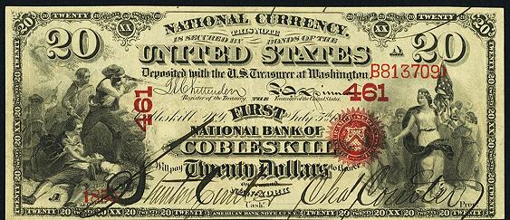 1863 Twenty Dollar Original Series National Bank Note