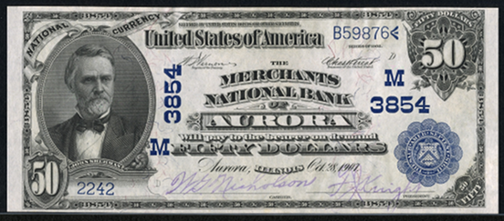 1902 $50 Date Back - Front