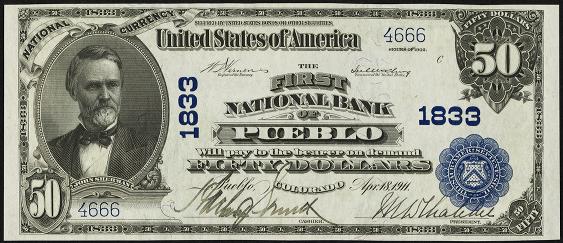1902 $50 Plain Back - Front