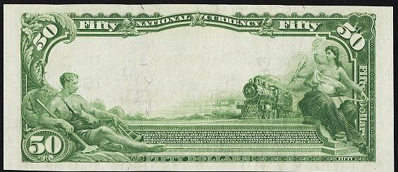 1902 $50 Plain Back - Back