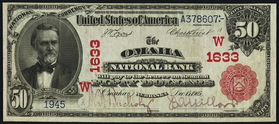 1902 $50 Red Seal - Front
