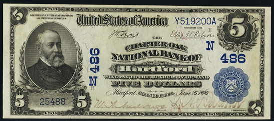 1902 $5 Date Back - Front