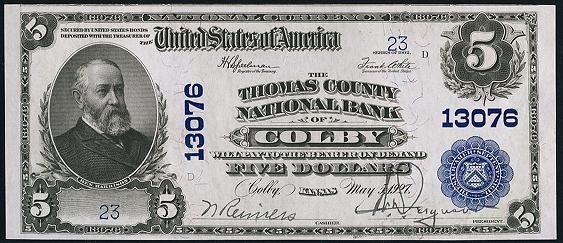 1902 $5 Plain Back - Front