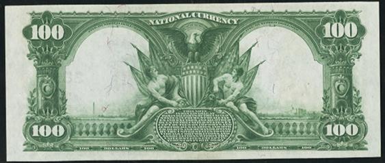 1902 $100 Date Back - Back