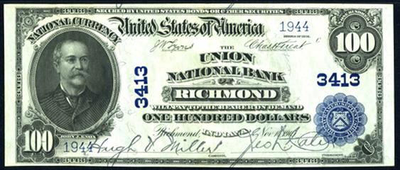 1902 $100 Plain Back - Front