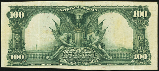 1902 $100 Red Seal - Back