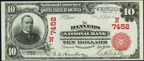 1902 $10 Red Seal - Front