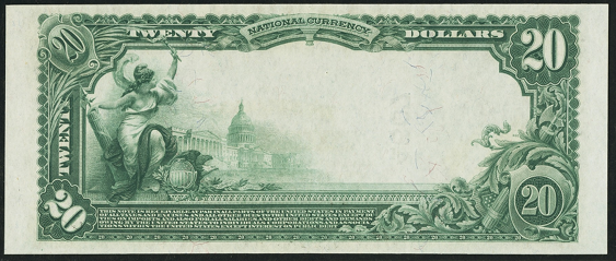 1902 $20 Plain Back - Back