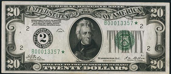 1928 Twenty Dollar Federal Reserve Note