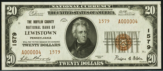 1929 \$20 Type 2 - Front