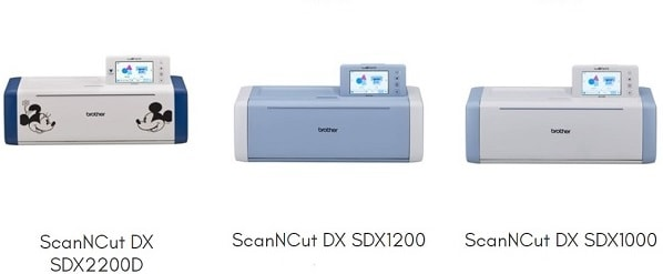 Scan N Cut models currently advertised as available on the Brother Australian website.