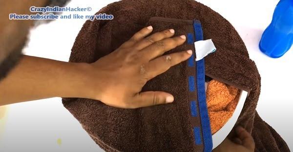 natural fridge covered towel