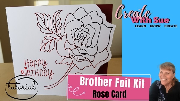 Brother Foiled Card using the Scan N Cut main picture